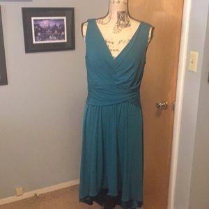 Suzi Chin Emerald Green Hi Low Dress